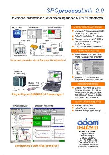 SPCProcessLink (PLC connectivity for SPC software)