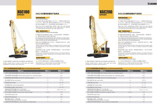 XCMG 180 ton Crawler Crane XGC200