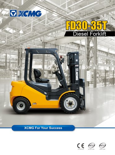 XCMG 3 ton diesel forklift truck FD30T