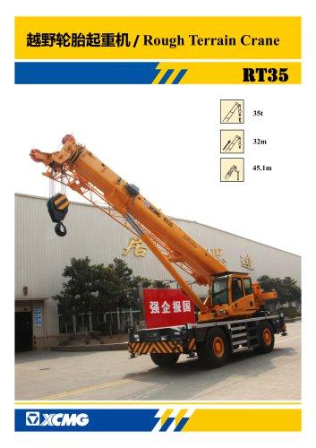 XCMG 35 Ton Rough Terrain Crane RT35
