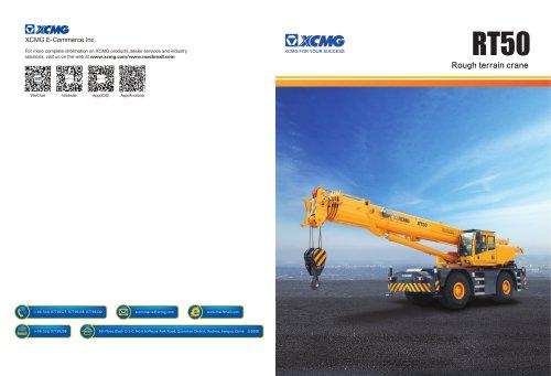 XCMG 50 ton rough terrain crane RT50