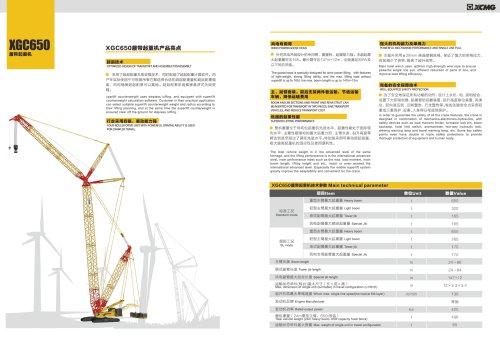XCMG 650 ton Crawler Crane XGC650