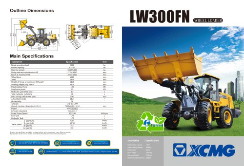 XCMG  loader LW300FN construction