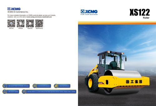 XCMG  road roller XS122 construction