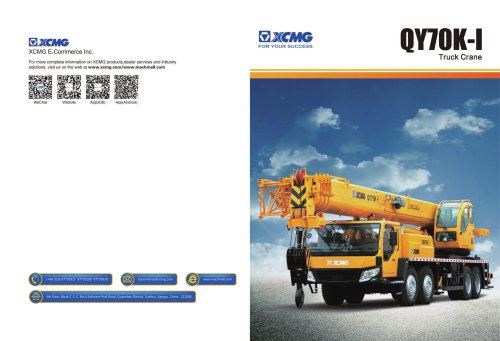 XCMG  truck crane QY70k-I construction