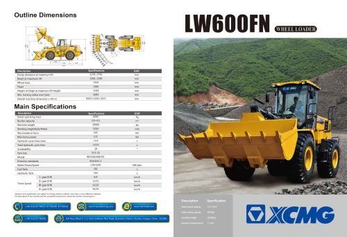 XCMG Wheel Loader LW600FN