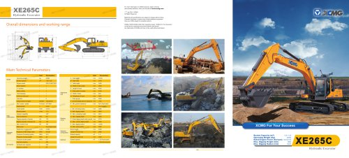 XCMG XE265C 25 ton Crawler Excavator.
