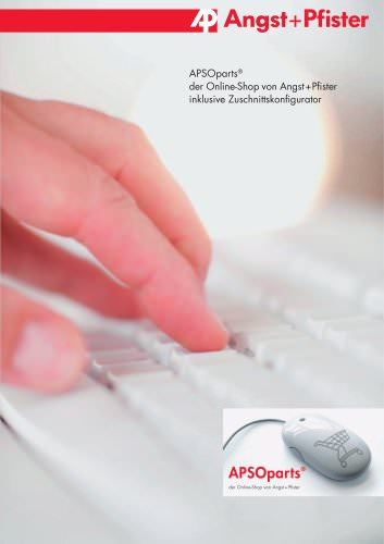 APSOparts® der Online-Shop von Angst+Pfister inklusive Zuschnittskonfigurator