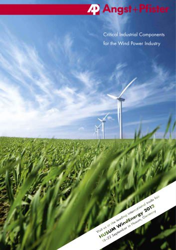 Critical Industrial Components for the Wind Power Industry