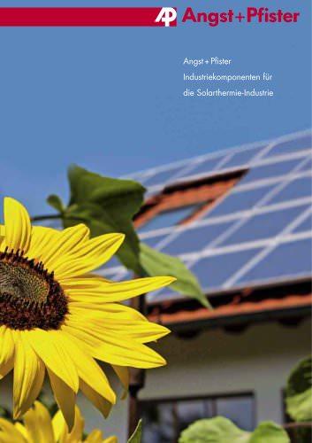 Industriekomponenten für die Solarthermie-Industrie