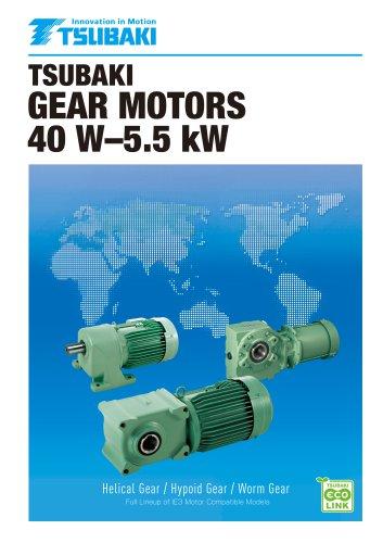 Tsubaki gear motors 40 W - 5.5 kW