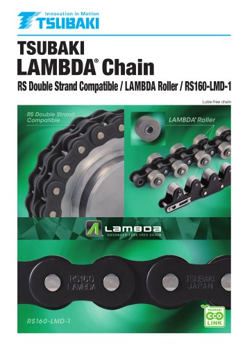 Tsubaki Lambda Chain RS Double Strand Compatible/Lambda Roller/RS160-LMD-1