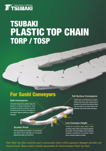 Tsubaki Plastic Cresent chain TORP/TOSP