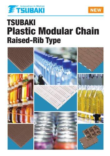 Tsubaki Plastic Modular Chain Raised Rib Type