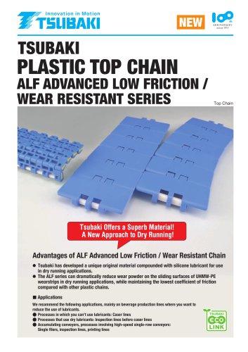 Tsubaki Plastic Top Chain ALF Advanced Low  Friction / Wear Resistant Series