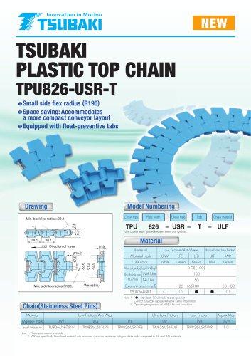 Tsubaki Plastic Top Chain TPU826-USR-T