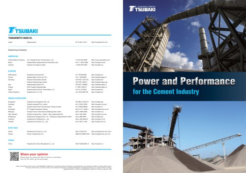 Tsubaki Power and Performance for the Cement Industry