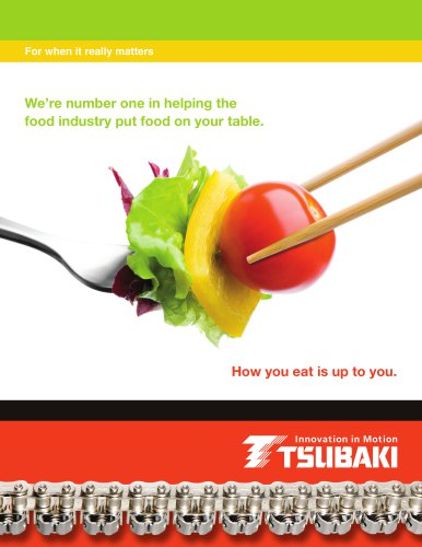 Tsubaki Products for the Food Industry