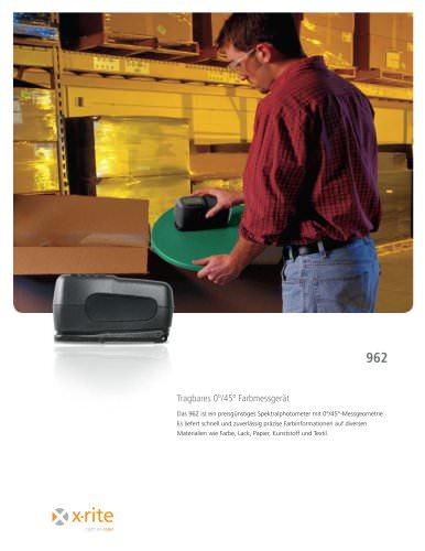 962 Tragbares Spektralfotometer mit 0°/45°-Geometrie
