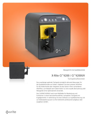 X-Rite Ci™4200 / Ci™4200UV Tischspektralfotometer