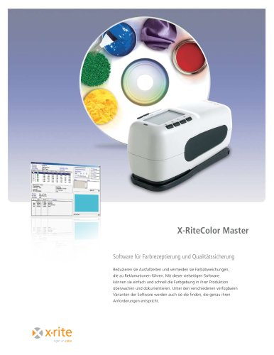 X-RiteColor® Master Software