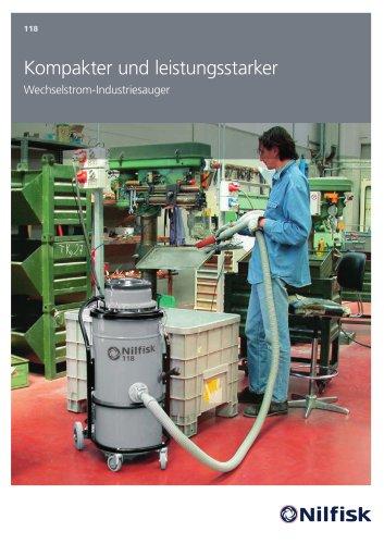 118 - Kompakter und leistungsstarker wechselstrom-Industriesauger