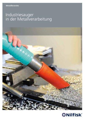 Industriesauger in der Metallverarbeitung