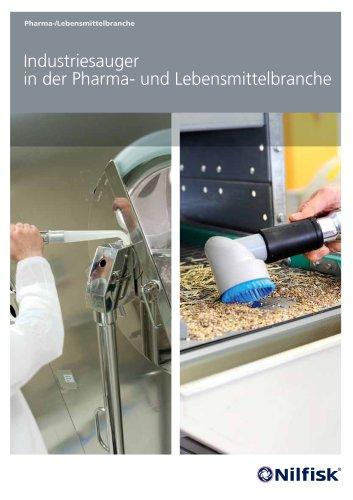 Industriesauger in der Pharma- und Lebensmittelbranche.