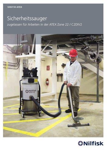 Sicherheitssauger zugelassen für Arbeiten in der ATEX Zone 22 / C2DIV2