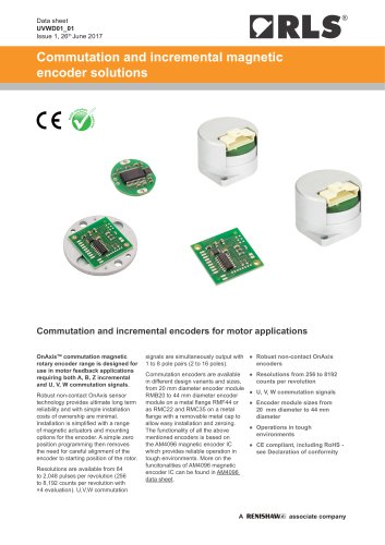 Commutation and incremental magnetic encoder solutions