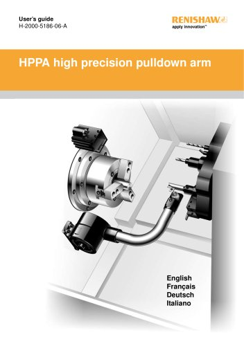 HPPA high precision pull-down arm user's guide