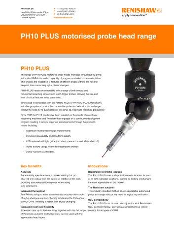 PH10 PLUS motorised probe head range