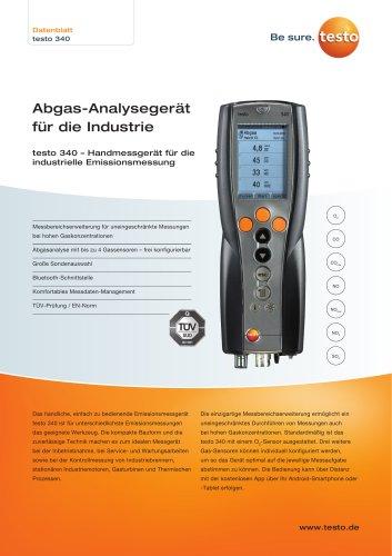 Abgas-Analysegerät  für die Industrie testo 340