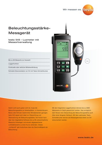 Beleuchtungsstärke-Messgerät - testo 545