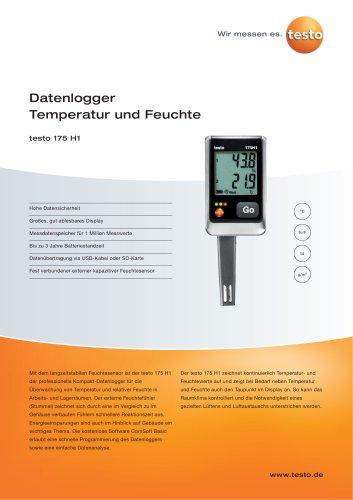 Datenlogger Temperatur und Feuchte - testo 175 H1