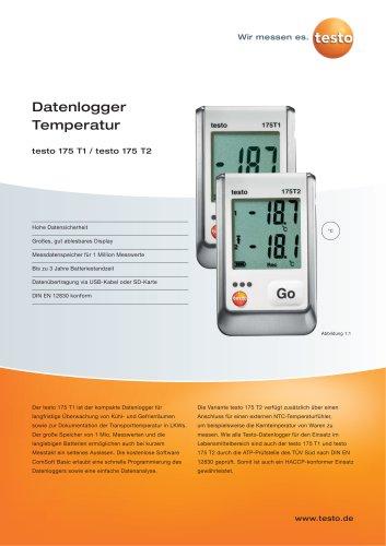 Datenlogger Temperatur - testo 175 T1 / testo 175 T2