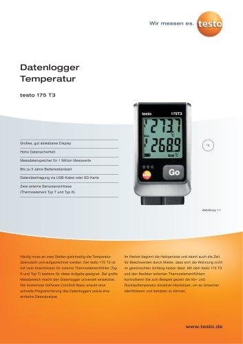 Datenlogger Temperatur - testo 175 T3
