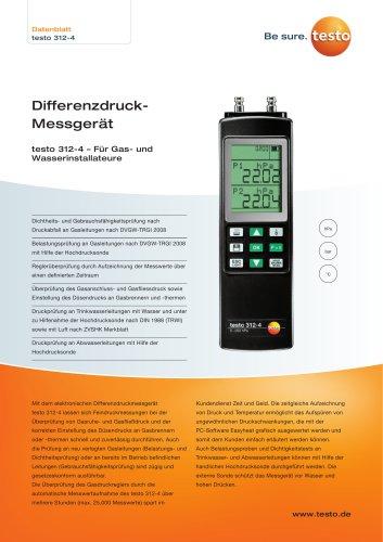 DifferenzdruckMessgerät testo 312-4