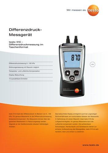 Differenzdruck-Messgerät - testo 510