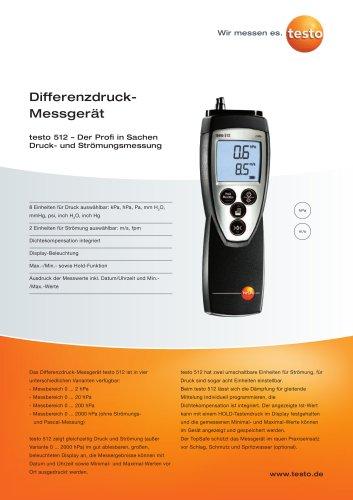 Differenzdruck-Messgerät - testo 512