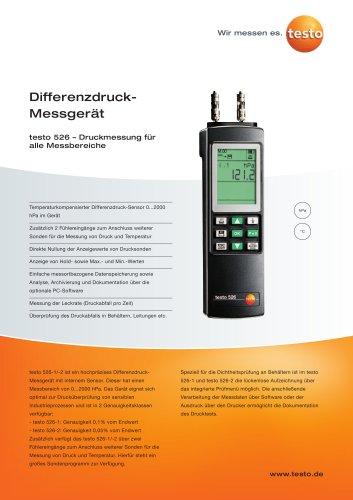 Differenzdruck-Messgerät - testo 526