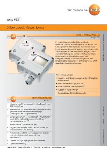 Differenzdruck-Messumformer - testo 6321