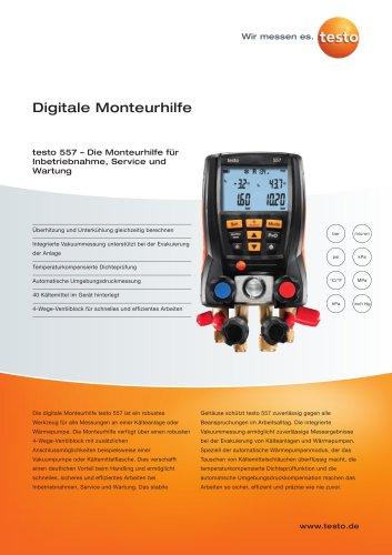 Digitale Monteurhilfe - testo 557