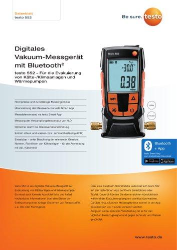 Digitales  Vakuum-Messgerät  mit Bluetooth®