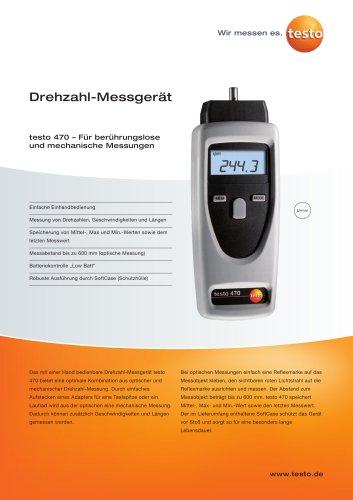 Drehzahl-Messgerät - testo 470