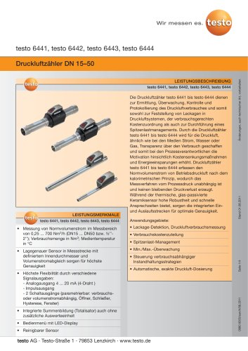 Druckluftzähler DN 15–50
