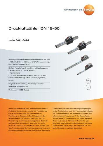 Druckluftzähler DN 15–50 testo 6441-6444