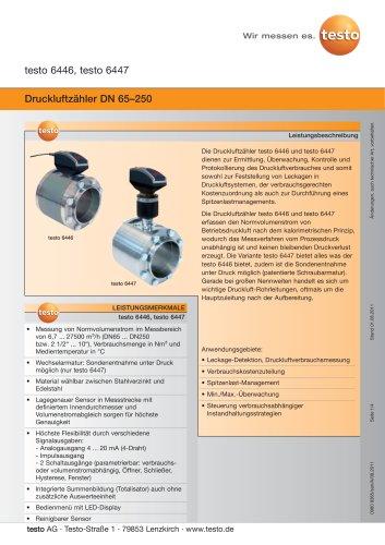 Druckluftzähler DN 65–250