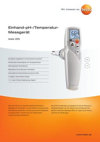 Einhand-pH-/Temperatur-Messgerät - testo 205