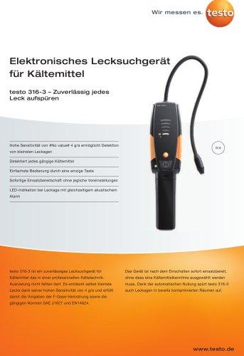 Elektronisches Lecksuchgerät für Kältemittel - testo 316-3